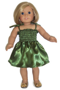Satin Sundress-Green
