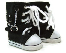 High Top Boot Style Sneakers-Black