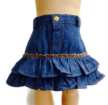 Denim Ruffled Jean Skirt