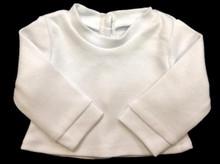 Long Sleeved Knit Shirt-White