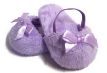 Mule Slippers with Bow-Lavender