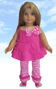 Pretty in Pink Ruffled Top & Leggings