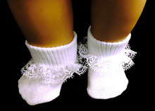 Socks-White Lace