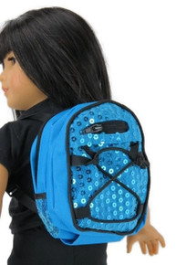 Backpack-Blue with Sequins