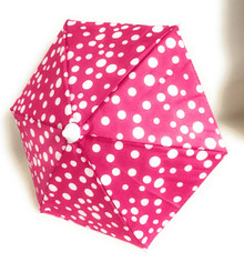 Umbrella-Pink with White Polka Dots