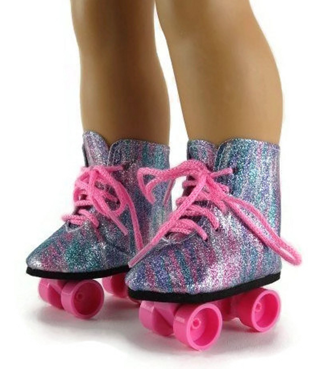Roller skates rainbow - Rollerskates Rainbow Glitter