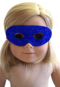 Halloween Mask-Royal Blue Glitter