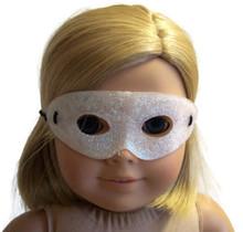 Halloween Mask-Pearl White Glitter