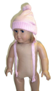 Pink Knit Hat with Ear Flaps