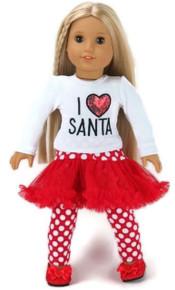 I Love Santa Tutu Outfit