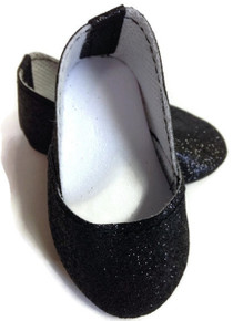 Princess Shoes-Black Sparkle