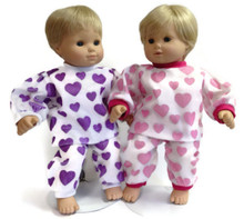 Pajamas-Pink Heart Print & Purple Heart Print