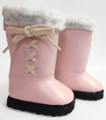 Boots-Pink with Sherpa Trim & Bows