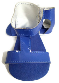 T-Strap Sandals-Royal Blue