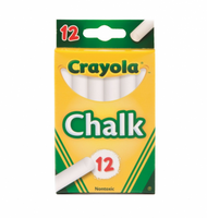 Crayola Chalk, White 12 ea