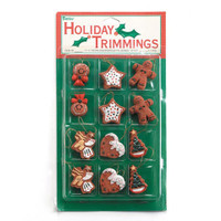 Resin Ornaments - Assorted Gingerbread - 1 inch - 12 pieces