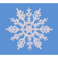 Snowflake - Pearlized - 4 inches - 10 pieces