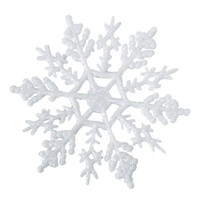 Snowflake - White - 4 inches - 10 pieces