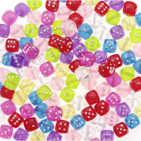 Acrylic Beads - Dice - Transparent - 8mm