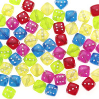 Acrylic Beads - Dice - Transparent - 12mm