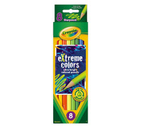 CRAYOLA EXTREME COLORED PENCILS 8 COLOR SET