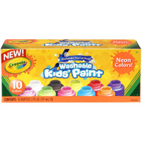 Crayola Washable Kids Paint 2oz 10/Pkg – Neon Colors