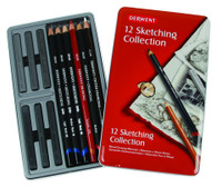 DERWENT SKETCHING PENCIL 12PCS TIN