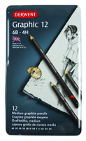 DERWENT GRAPHIC DESIGN PENCIL 12PCS TIN