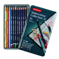 DERWENT WATERCOLOUR PENCIL COLLECTION 12 COLOUR TIN