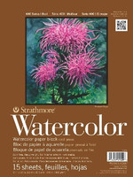 "Strathmore - Watercolor Cold Press Block - 400 Series - 9""x12"" - 15 Sheets - 140LB"