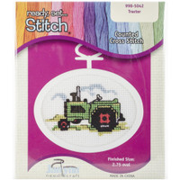 Tractor Mini Counted Cross Stitch Kit