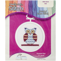 Owl Mini Counted Cross Stitch Kit