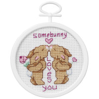 Some Bunny Loves You Mini Counted Cross Stitch Kit