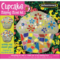 Cupcake –- Mosaic Stepping Stone Kit