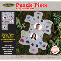 Puzzle Piece - Mosaic Stepping Stone Kit