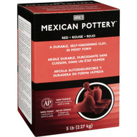 Mexican Self-Hardening Clay 5lb – Red