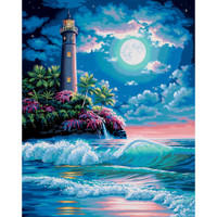 Lighthouse In The Moonlight