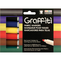 Graffiti Fabric Markers 6/Pkg – Primary