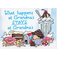 Dimensions - What Happens At Grandma's Mini Stamped Cross Stitch