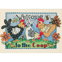 Dimensions - Welcome To The Coop Mini Stamped Cross Stitch