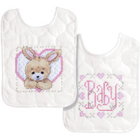 Tobin - Bedtime Prayer Girl Bib Pair