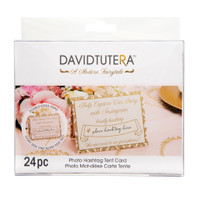 David Tutera™ Instagram Tent Cards - Gold/Ivory/Blush - 5.5 x 4.25 in - 24 pieces