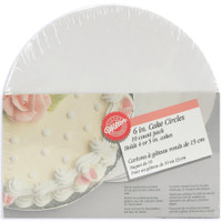 "Cake Boards - 6"" Round White 10/Pkg"