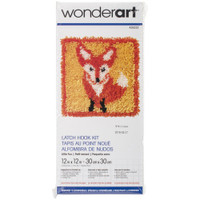 "Latch Hook Kit 12""X12"" – Little Fox"
