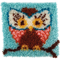 "Latch Hook Kit 12""X12"" – Hoot Hoot"