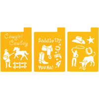 "Stencil Mania Stencils 7""X10"" 3/Pkg – Way Out West"