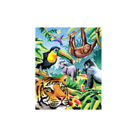 Colour By Number – Jungle Animals