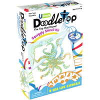 UCreate Doodletop Squiggly Stencil Kit – Sea Life