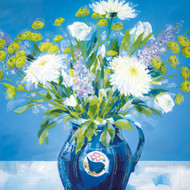 CH33824 - Blue Vase (6 blank cards)