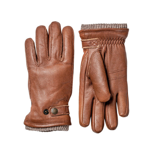 Elk Leather Button Glove